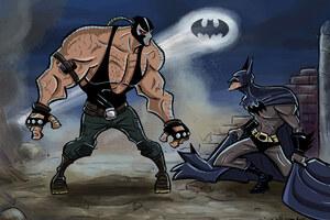 Bane And Batman Wallpaper