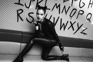 Barbara Palvin Catwoman Monochrome