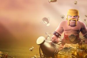 Barbarian Clash Of Clans HD Wallpaper