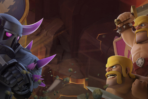 Barbarian Vs Pekka Clash Of Clans Wallpaper