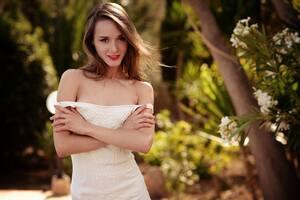 Bare Shoulders Women Outdoor