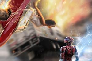 Barry Allen Saving Iris West From Accident 4k