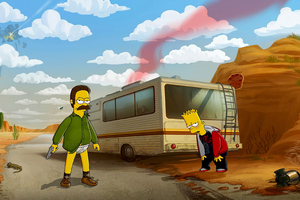 Bart And Heisenberg Simpson 4k Wallpaper