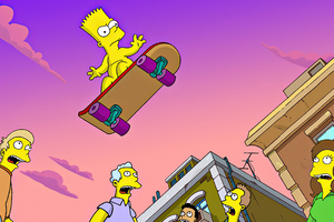 Bart Simpsons 4k