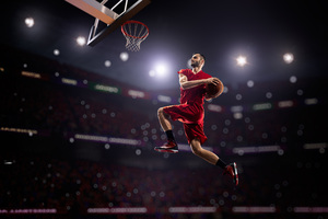 Basketball Man Jumping Playing 8k