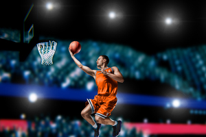 Basketball Player Shooting Wallpaper