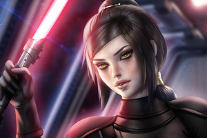 Bastila Shan Fallen Star Wars Galaxy Of Heroes Wallpaper