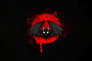 Bat Bird Minimal Red Black 4k Wallpaper