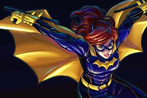 Bat Girl Wings Open 4k Wallpaper
