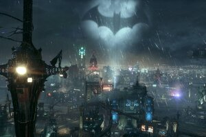 Bat Light In The Sky Batman Standing Wallpaper