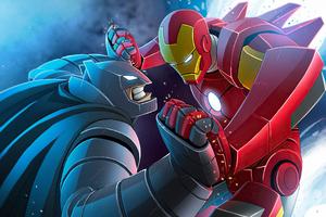 Bat Man And Iron Man