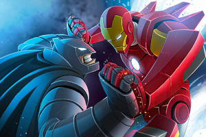 Bat Man And Iron Man Wallpaper