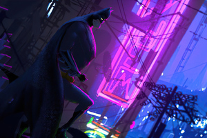Bat Man Cyber City Wallpaper