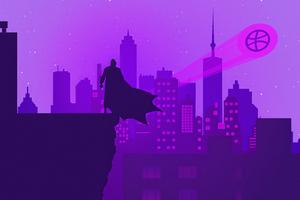 Bat Man Gotham Neon
