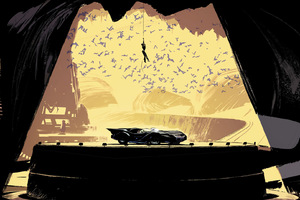 Batcave Catwoman DC Comics Artwork
