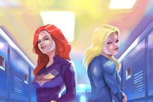 Batgirl And Supergirl Locker Room