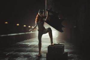 Batgirl Cosplay Art 4k Wallpaper