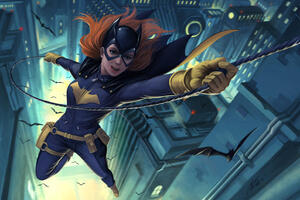 Batgirl Flying