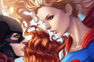 Batgirl Vs Supergirl Wallpaper