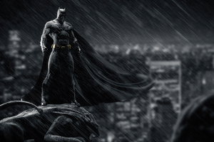 Batman Above The City
