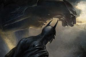 Batman Among The Gargoyles 4k