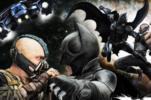 Batman And Bane Art