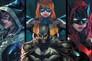 Batman And Girl Superheroes Wallpaper