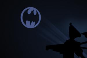 Batman And His Bat Signal