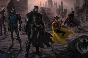 Batman And His Team Artwork