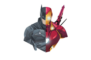 Batman And Iron Man 4k Minimalism