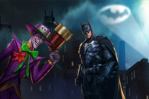 Batman And Joker 4k Art Wallpaper