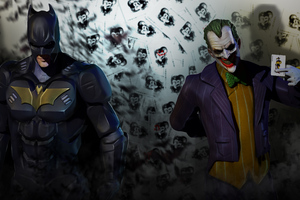 Batman And Joker 8k Wallpaper