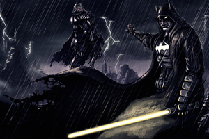 Batman And Joker Darth Vader