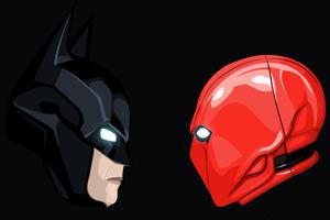 Batman And Red Hood Artwork Wallpaper