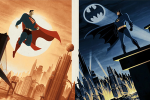 Batman And Super Man Artwork