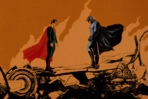 Batman And Superman Face Off