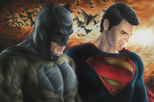 Batman And Superman Fanart Wallpaper