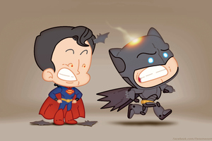 Batman And Superman Fat Heads 4k