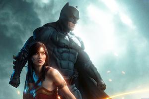 Batman And Wonder Woman Cosplay 5k Wallpaper