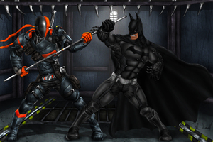 Batman Arkham Origins Deathstroke Fanart Wallpaper