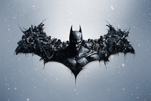 Batman Arkham Origins Logo 8k Wallpaper