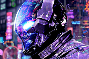 Batman Arkham Scifi Neon City