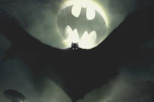 Batman Bat Signal Coming Wallpaper