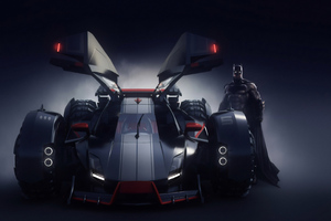 Batman Batmobile 4k