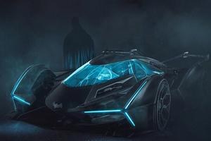 Batman Batmobile Neon