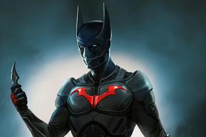 Batman Beyond Action Suit 4k Wallpaper