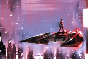 Batman Beyond On Batpod