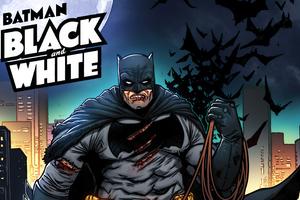 Batman Black And White Comic 5k Wallpaper