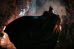 Batman Black Cape 4k