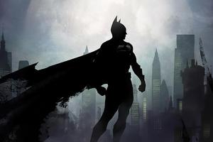 Batman Black Cape Artwork